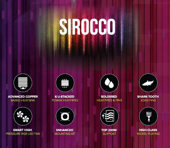 Sirocco RGB Cooler